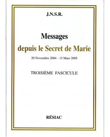 MESSAGES DEPUIS LE SECRET DE MARIE T03