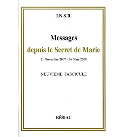 MESSAGES DEPUIS LE SECRET DE MARIE T09