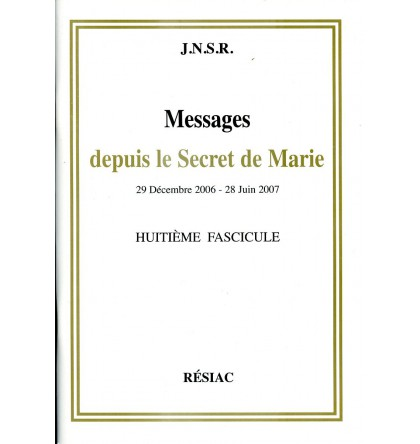 MESSAGES DEPUIS LE SECRET DE MARIE T08