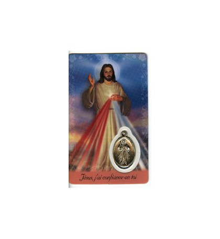 CARTE MEDAIL PLASTIQUE JESUS MISERICORDEUX