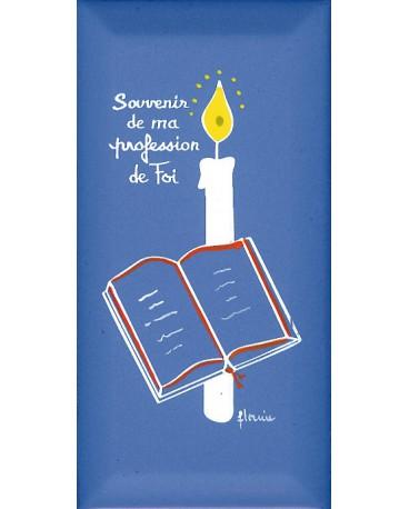 CADRE SOUVENIR DE MA PROFESSION DE FOI FAIENCE(BIBLE)