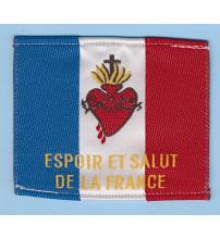 DRAPEAU S COEUR TISSU ESPOIR ET SALUT DE LA FRANCE