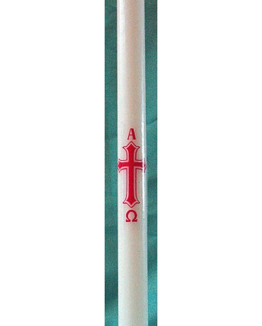 CIERGE DE BAPTEME CROIX/AGNEAU ADULTE