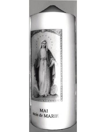 BOUGIE DÉVOTION MOIS DE MARIE (Mai)