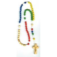 CHAPELET missionnaire 5 couleurs en OLIVIER