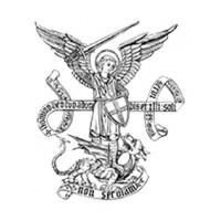 Saint Michel Archange adhesif PVC d exterieur