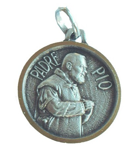 MEDAIL PADRE PIO métal argenté 18 mm