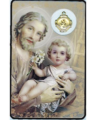 CARTE MEDAIL PLASTIQUE ST JOSEPH