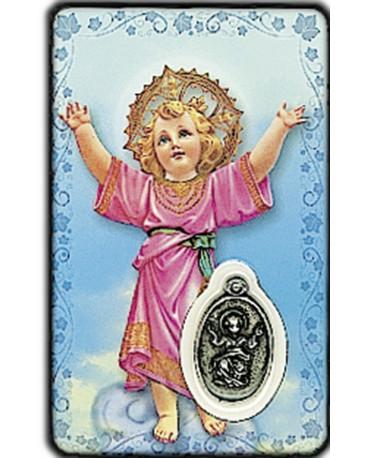 CARTE MEDAIL PLASTIQUE ENFANT JESUS