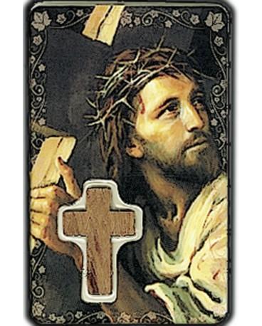 CARTE MEDAIL PLASTIQUE A JESUS CRUCIFIE