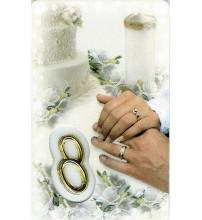 CARTE MEDAIL PLASTIQUE SOUVENIR DE MARIAGE