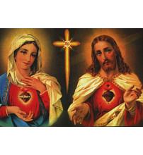 IM SACRES COEURS DE JESUS ET MARIE FT 5,6 X 7,9 cm