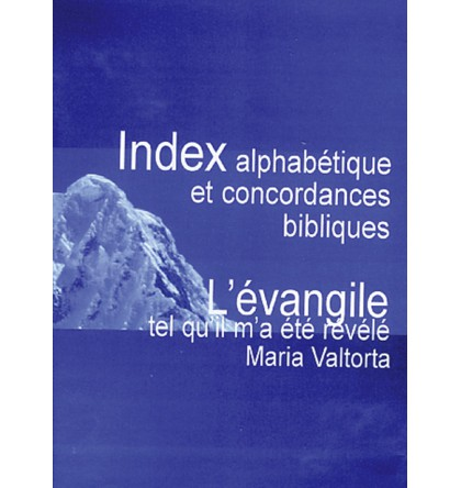 INDEX ALPHABETIQUE ET CONCORDANCE BIBLIQUE M VALTORTA