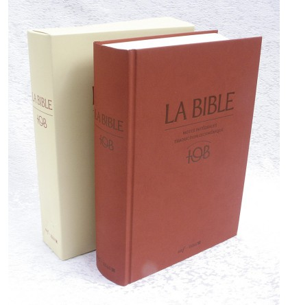 BIBLE TOB 17 X 24 reliure rigide à notes intégrales