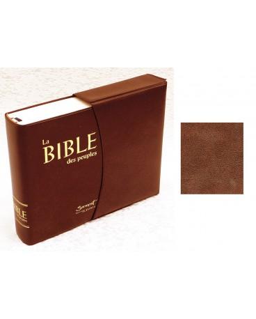 BIBLE DES PEUPLES POCHE couverture vinyle avec notes et étui